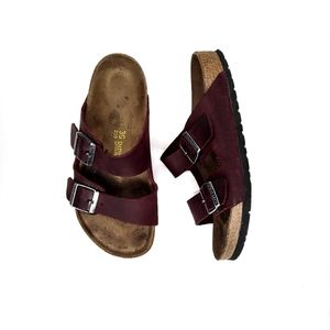 Birkenstock sandals burgundy ladies size 5
